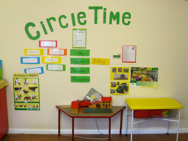 circle time area in kids klubs childcare creche bayside co.dublin