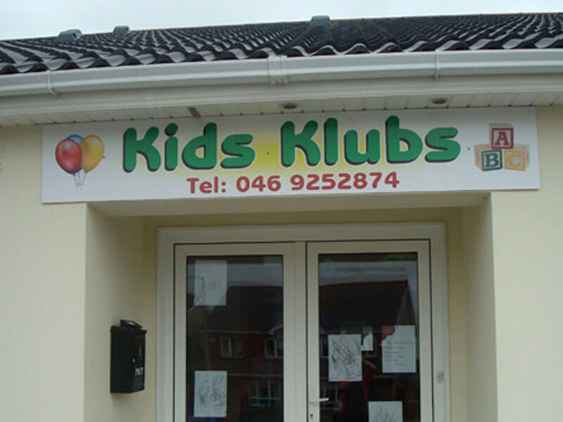 front door of kids klubs childcare creche kells co.meath